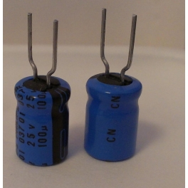 100uf 25v 100µf Radial d:8mm h:11mm