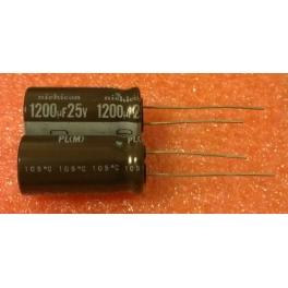 1200uf 25v 1200 µf Radial d:13mm h:25mm