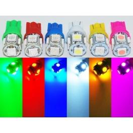Ampoule W5W T10 a 5 LED 12v pour voiture et moto