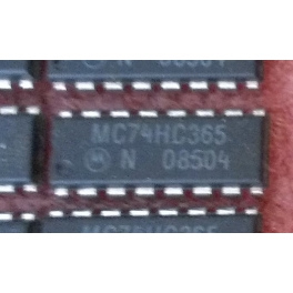 MC74HC365N Hex 3-state Non inverting Buffer With Common Enables