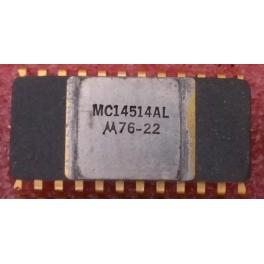 MC14514AL 4−Bit Transparent Latch / 4−to−16 Line Decoder