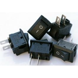 Mini Switch , Interrupteur à bascule Marche / Arrêt (2 pins) 117S KCD1-11