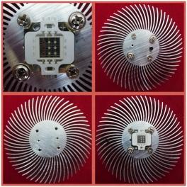 Radiateur , refroidisseur Aluminium pour LED 10 Watt