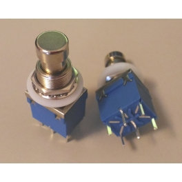 2 DPDT , 6 Pin footswitch bleu