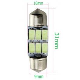Ampoule Feston 31mm CANBUS C5W 6xSMD5630 Blanc