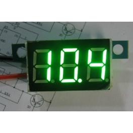 Voltmetre 0-30 volt affichage vert