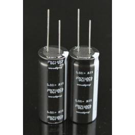 120uf 450v 120 µF Radial d:18mm h:45mm 105°C Rubycon