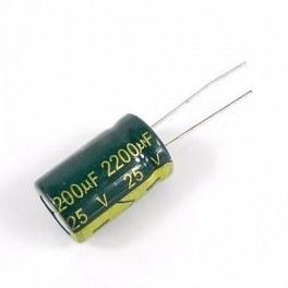 2200uf 25v 2200µf Radial d:13mm h:20mm Low ESR