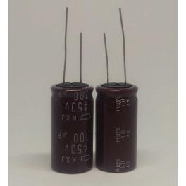 100uf 450v 100µF Radial d:18mm h:35mm 105°C KXJ