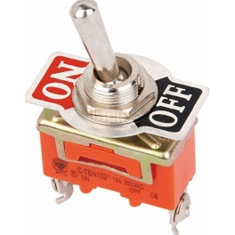 Commutateur Bascule on/Off  E-TEN1021 DPDT 2 Pin 2 position 15A 250V orange