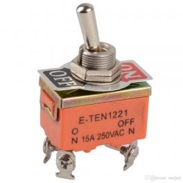 Commutateur Bascule ON/OFF  E-TEN1221 DPDT 4 Pin 2 position 15A 250V orange