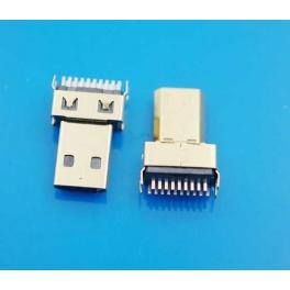 Connecteur micro HDMI male 19 pins