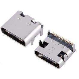 Connecteur Femelle USB Type C a souder SMT fixation 4 broches verticales