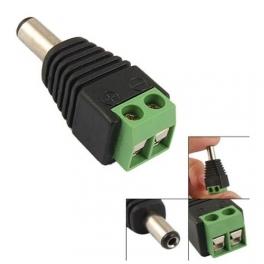 Connecteur Jack male DC a Visser diametre:2.1mm longueur: 5.5mm