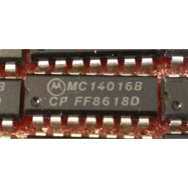MC14016B - CD4016B Quadruple analogue switch
