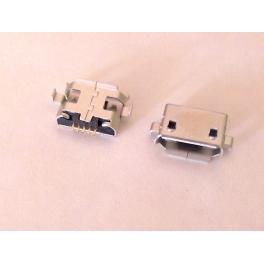 Connecteur micro USB B femelle a souder (fixation 2 points 90°centrale écartées)(5 pattes courtes pour l'USB)