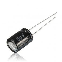 100uf 50v 100 µf Radial d:8mm h:12mm