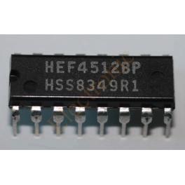 HEF4512BP multiplexeur 8 entrées 3 états équivalent CD4512BP